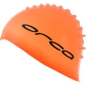 ORCA Silicone Bonnet de bain, high vis orange